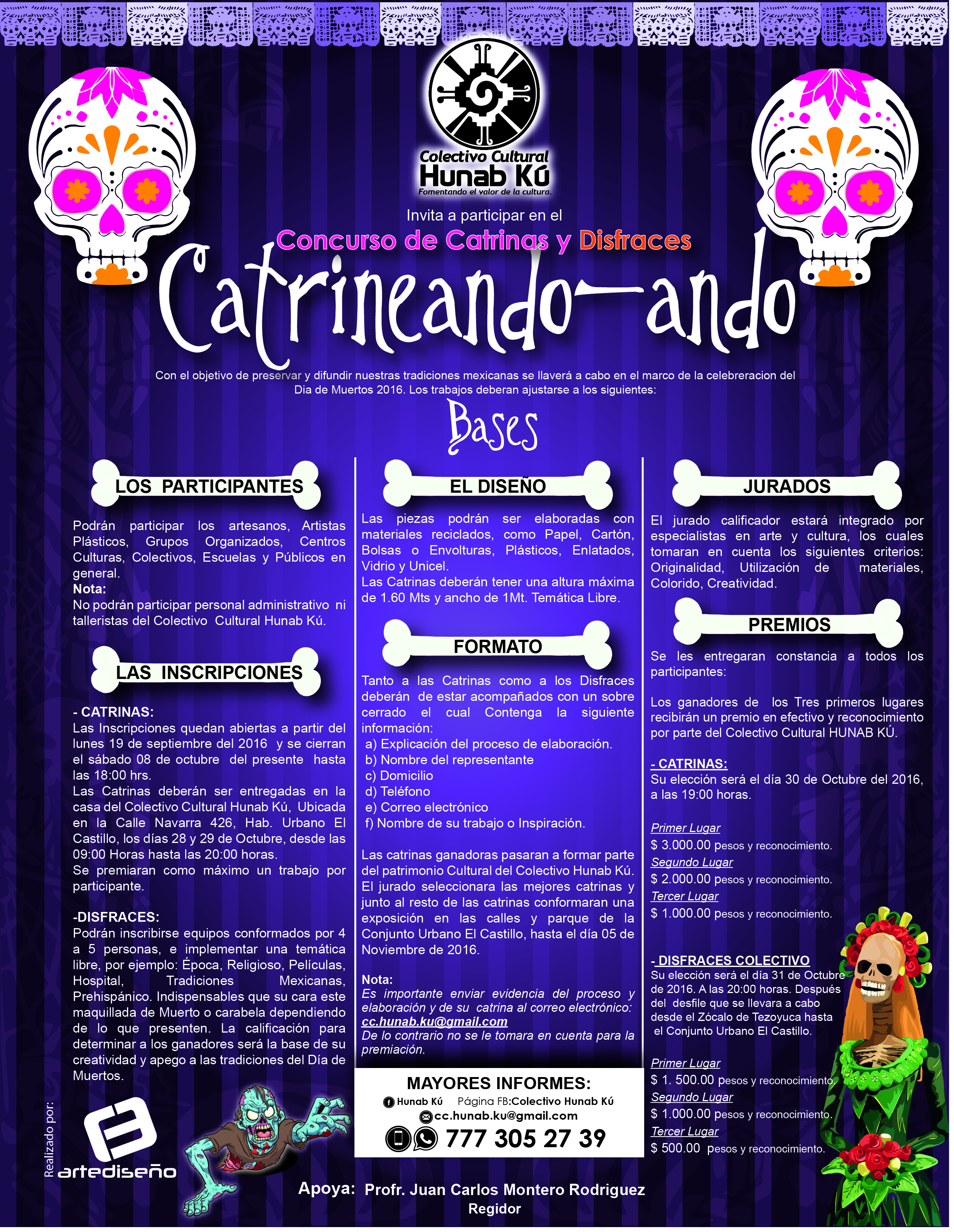 FORMATO DE CATRINAS Y DISFRACES